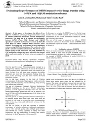 thesis on mimo-ofdm performance analysis Performance analysis of turbo-coded mimo-ofdm system for underwater communication.