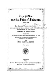 3 1 2016 Zodiac And The Salts Of Salvation George W Carey