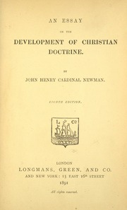 christian development doctrine essay henry john