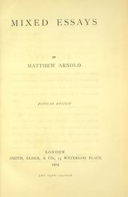 arnold essays in criticism 1865