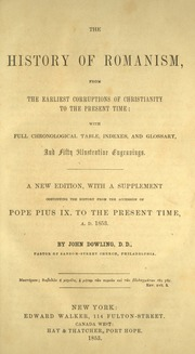 The history of romanism john dowling
