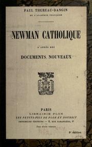 Newman catholique d-après des documents nouveaux