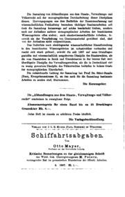Abhandlungen aus dem Staats-, Verwaltungs- und Völkerrecht