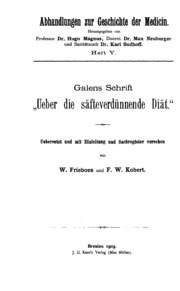Abhandlungen zur Geschichte der Medicin. v. 18, 1906