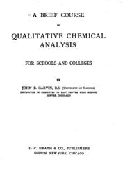 qualitative chemistry coursework Chemistry 102 1 introduction qualitative analysis is a method used for identification of ions or compounds in a sample in many cases, qualitative analysis will also.