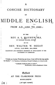 A Concise Dictionary of Middle English: From A.D. 1150 to ...
