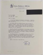 John W Adams Correspondence File, 1979-2013