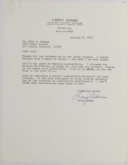 Larry Adams Correspondence File, 1971-1982