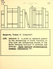 North carolina history research paper