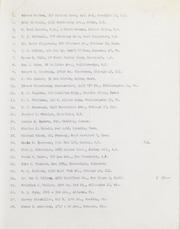 Addresses (List 1)