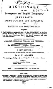 A Dictionary of the Portuguese and English Languages, in ...