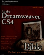 Adobe Dreamweaver CS4 bible : Lowery, Joseph (Joseph W