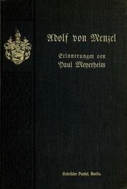 Adolf von Menzel. Erinnerungen