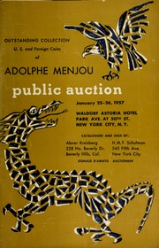 The Adolphe Menjou collection, et al, of choice : United States and Foreign coins. [01/25-26/1957]