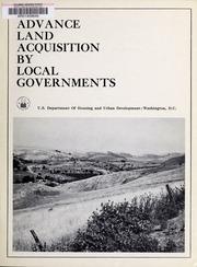 Advance land acquisition by...