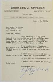 Charles J. Affleck Correspondence File 1960-1968