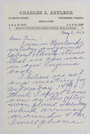 Charles J. Affleck Correspondence File 1969