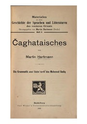 Čaghataisches von Martin Hartmann