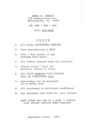 Kamal M. Ahwash [Fixed Price List]