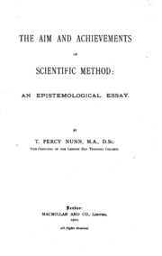 the aim and achievements of scientific method an epistemological  the aim and achievements of scientific method an epistemological essay