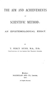 the aim and achievements of scientific method an epistemological  the aim and achievements of scientific method