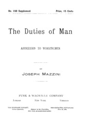 giuseppe mazzini an essay on the duties of man Analyzing primary sources mazzini's italian nationalism giuseppe mazzini —giuseppe mazzini, an essay on the duties of man.