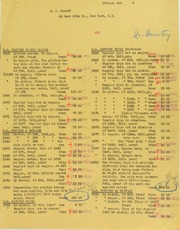 A. Kosoff Invoices from B.G. Johnson, January 2, 1945, to July 19, 1945