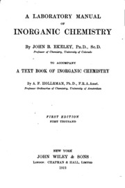 Green chemistry laboratory manual for general chemistry henrie a laboratory manual of inorganic chemistry fandeluxe Images
