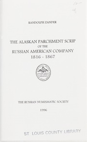 The Alaskan Parchment Scrip of the Russian American Company, 1816-1867