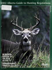 Alberta guide to hunting regulations.