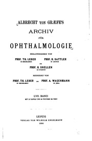 Albrecht von Graefe-s Archiv fuer Ophthalmologie