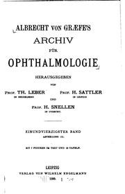 Vol 41: Albrecht von Graefe-s Archiv fuer Ophthalmologie