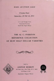 Al C. Overton Reference Collection of Bust Half Dollar Varieties