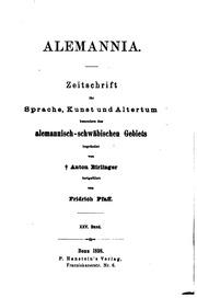 Vol 25-27: Alemannia