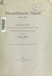 Alexandrinische Dipinti. Erster Teil