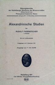 Alexandrinische studien