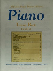 Alfred's Basic Piano Library: Lesson Book Level 3 : Palmer, Willard