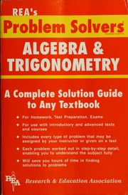the statistics problem solver research and education association  borrow the algebra problem solver