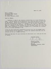 Arthur H. Allen Correspondence File, 1969