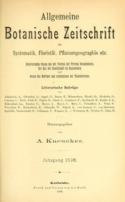Vol Jahrg. 2: Allgemeine botanische Zeitschrift für Systematik, Floristik, Pflanzengeographie etc