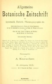 Vol Jahrg. 14: Allgemeine botanische Zeitschrift für Systematik, Floristik, Pflanzengeographie etc