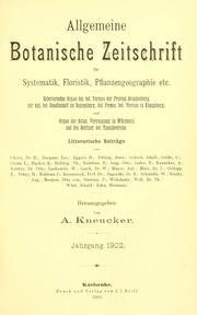 Vol Jahrg. 8 1902: Allgemeine botanische Zeitschrift für Systematik, Floristik, Pflanzengeographie etc
