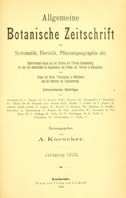 Vol Jahrg. 9 1903: Allgemeine botanische Zeitschrift für Systematik, Floristik, Pflanzengeographie etc