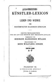 Allgemeines Künstler-Lexicon