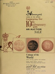 Almanzar's coins of the world : celebrating our 10th anniversary with an auction sale ... [08/31/1971]