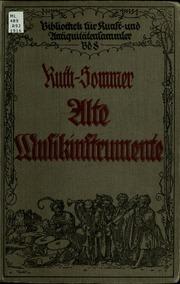 Alte Musikinstrumente : ein Leitfaden für Sammler