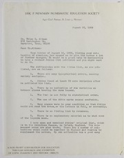 Brian Altman Correspondence File, 1969