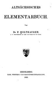 Altsächsisches Elementarbuch