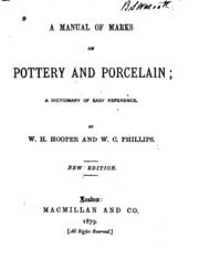 A manual of marks on pottery and porcelain a dictionary of easy a manual of marks on pottery and porcelain a dictionary of easy reference sciox Image collections
