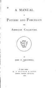 A manual of marks on pottery and porcelain a dictionary of easy a manual of pottery and porcelain for american collectors sciox Image collections